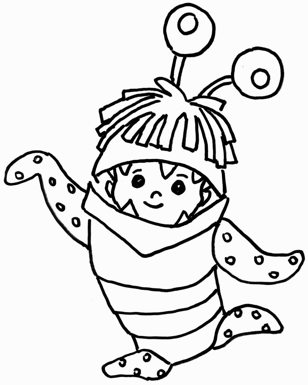 Monsters Inc Coloring Page  Monsters inc coloring pages, Monster