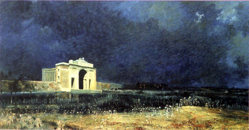 This Painting Is Breathtaking In Person Menin Gate At Midnight