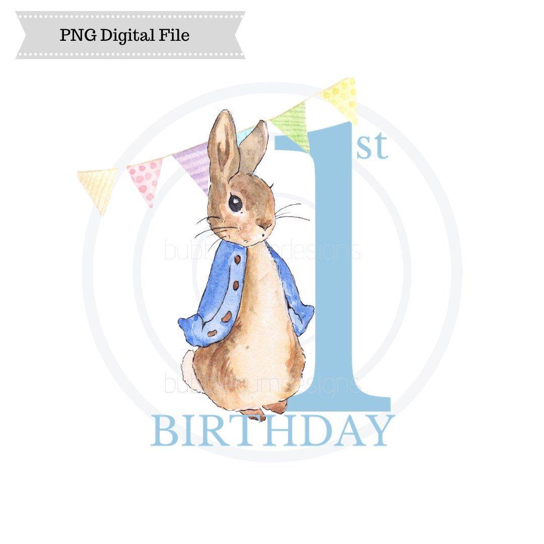 Peter Rabbit Png Sublimation Design 1st Birthday First Etsy Peter Rabbit Peter Rabbit And Friends Rabbit Png