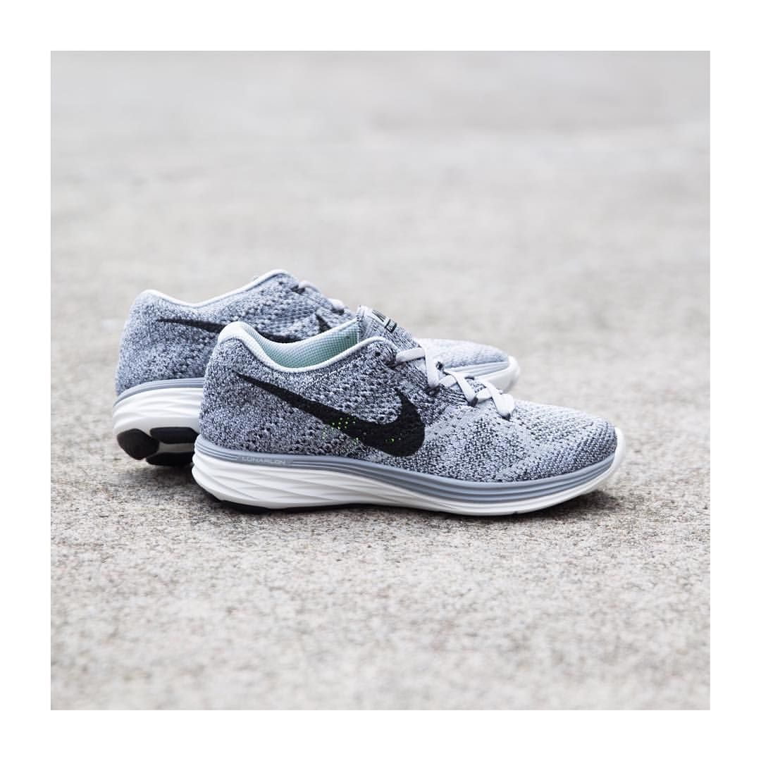 Sole Mate On Instagram Flyknit Lunar 3 Wolf Grey Black Summit White Grey Freshen Up Your Summer With These Improved F Nike Flyknit Lunar 3 Nike Flyknit Nike