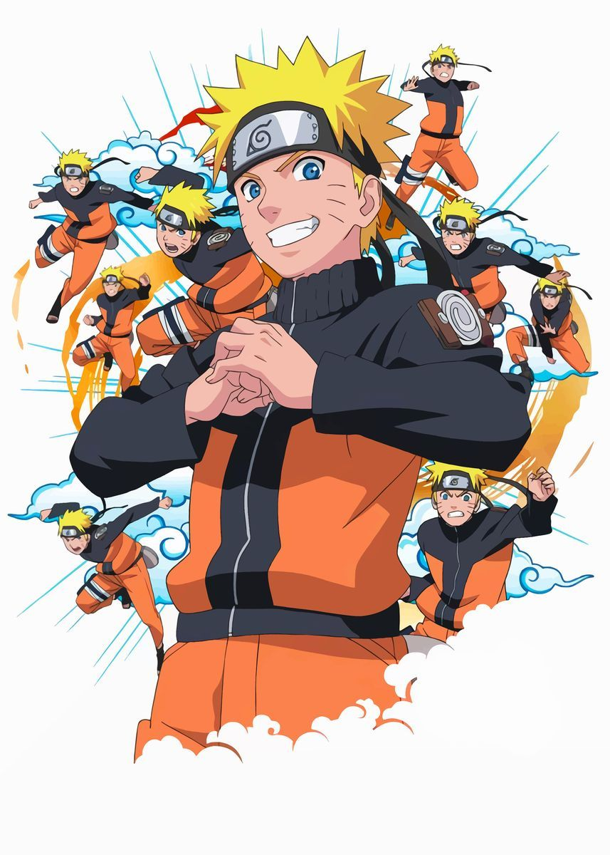 Naruto Poster Art Print By Anime Collections Displate In 2021 Naruto Naruto Uzumaki Naruto Uzumaki Art