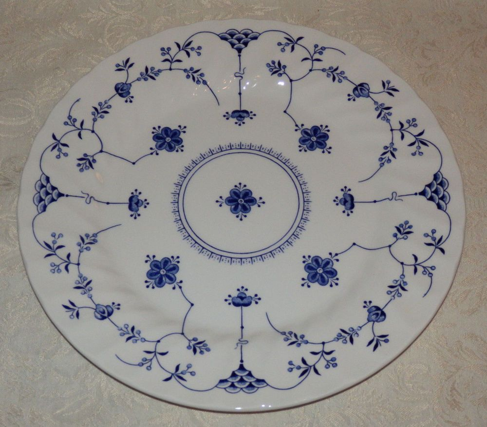(1) Churchill Finlandia Dinner Plate Made in Staffordshire England Blue \u0026 White #Churchill  sc 1 th 210 & 1) Churchill Finlandia Dinner Plate Made in Staffordshire England ...
