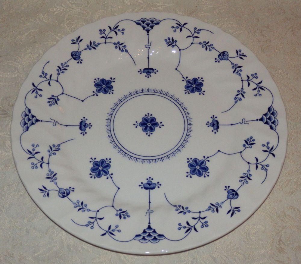(1) Churchill Finlandia Dinner Plate Made in Staffordshire England Blue u0026 White #Churchill  sc 1 st  Pinterest & 1) Churchill Finlandia Dinner Plate Made in Staffordshire England ...