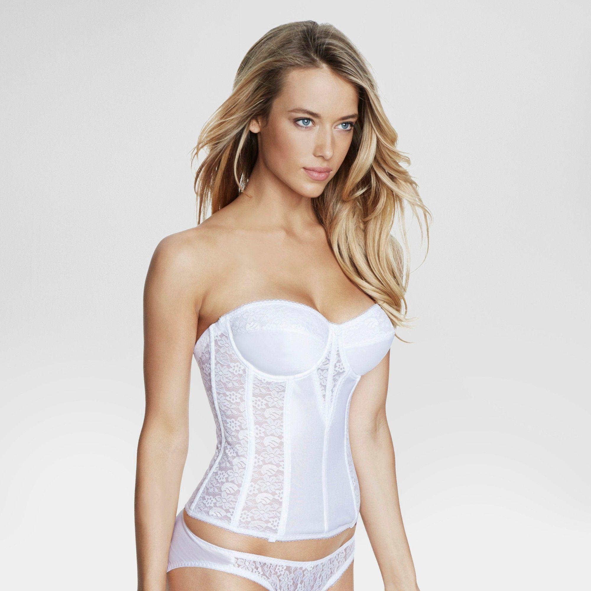 11246ae4b Dominique Women s Lace Corset Bridal Bra  8949 - White 44DD