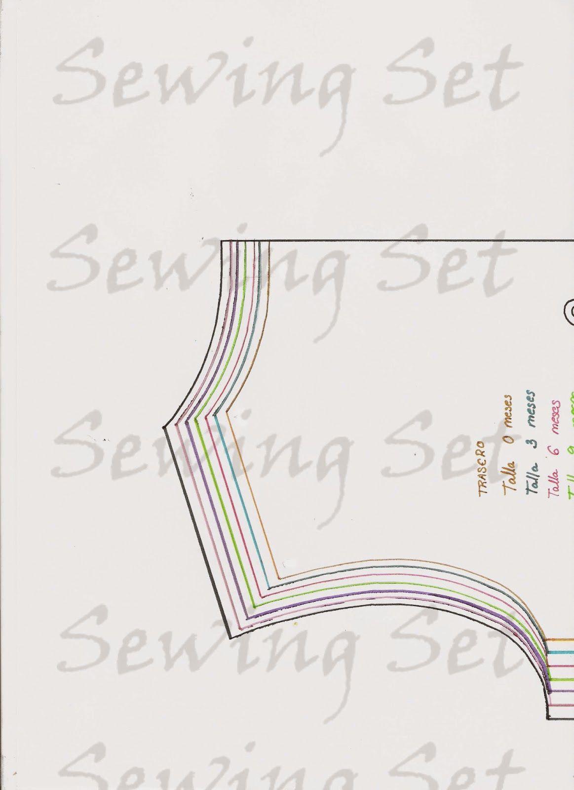 e54082ba9 Patrón camisa manga larga con cuello bebé para imprimir de 0-24 ...
