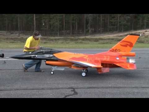 huge 1:4 scale F16 rc model in the beautiful show colours of the