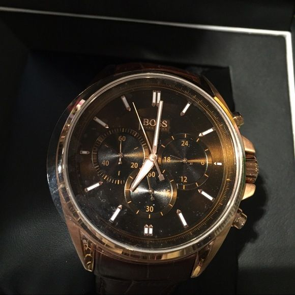 Rose Gold Hugo Boss watch Beautiful rose gold men's watch. Received for Christmas, never warn. Hugo Boss Accessories Watches