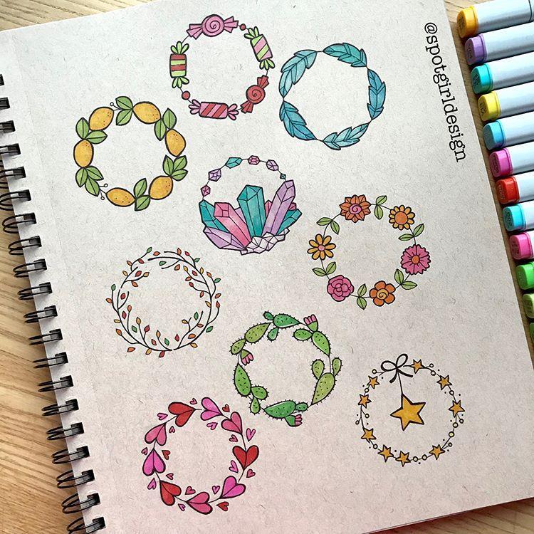 "Photo of Ann Pellegrino ✏️ Art & Design on Instagram: ""12 days wreaths (minus a few!) #Surelysimpleart #surelysimplechallenge #surelysimple @surelysimpleblog #doodleart # doodleartist …"""