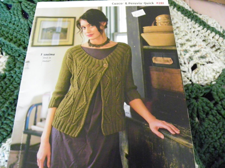 Knitting Pattern Book - Berroco #281 Cuzco & Peruvia Quick - 11 ...
