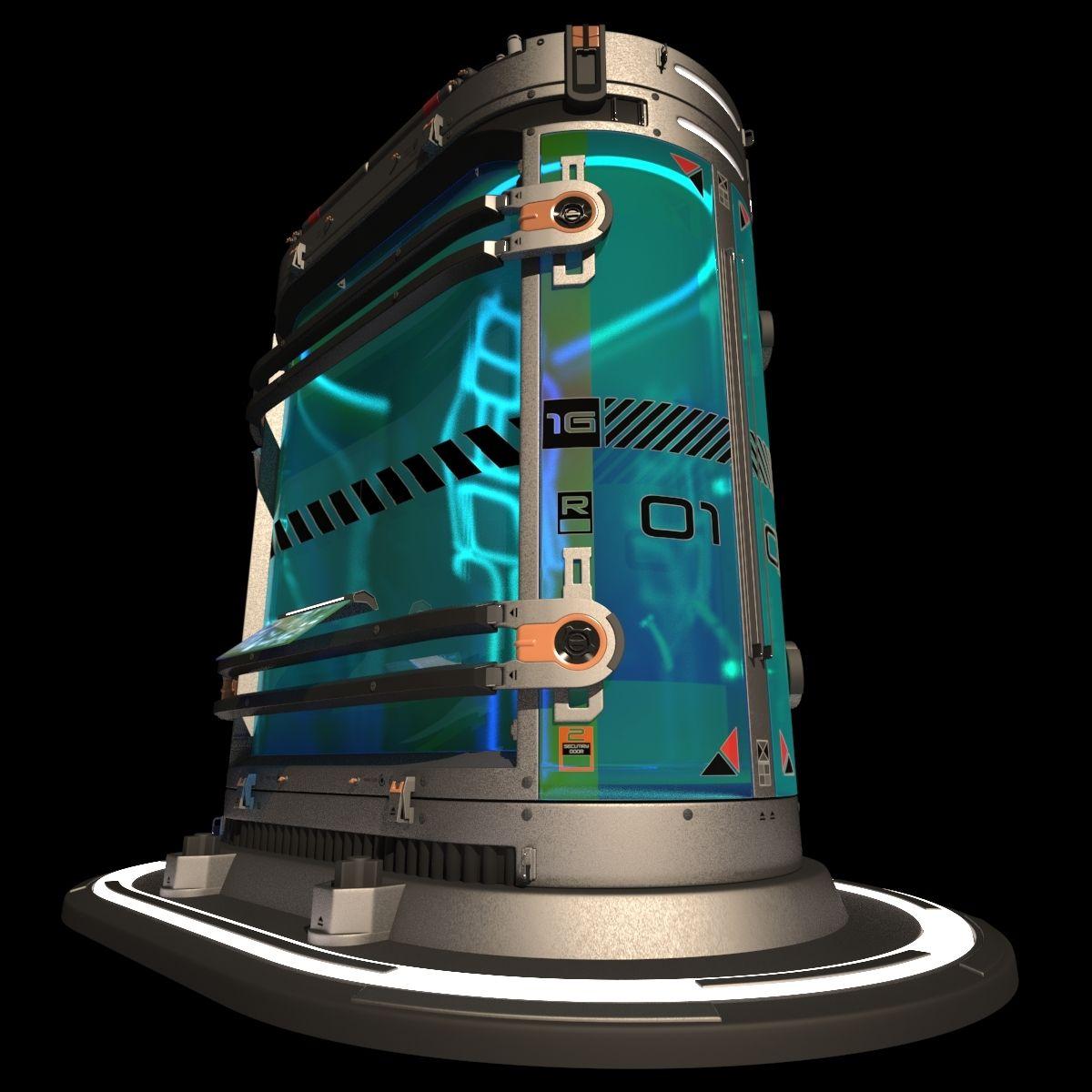 Scifi Cryopod Container 3d Model By Cermaka 3d Model Sci Fi Futuristic