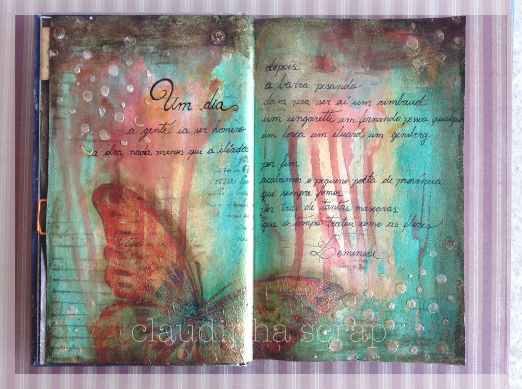Oficina da Claudinha: Art journal