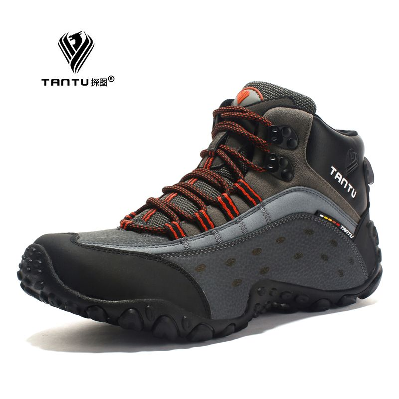 Tantu Men Hiking Shoes Breathable Leather Outdoor Sneaker Camping Trekking Climbing Shoes 39 To 46 High Mens Hiking Boots Mens Boots Fashion Best Hiking Shoes