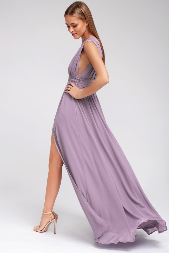 Heavenly Hues Dusty Purple Maxi Dress Purple Maxi Dress Burgundy Maxi Dress Maxi Dress