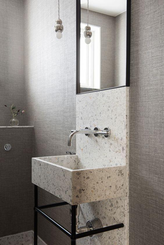 terrazzo lavabo | BATH | Pinterest | Bathroom interior design ...