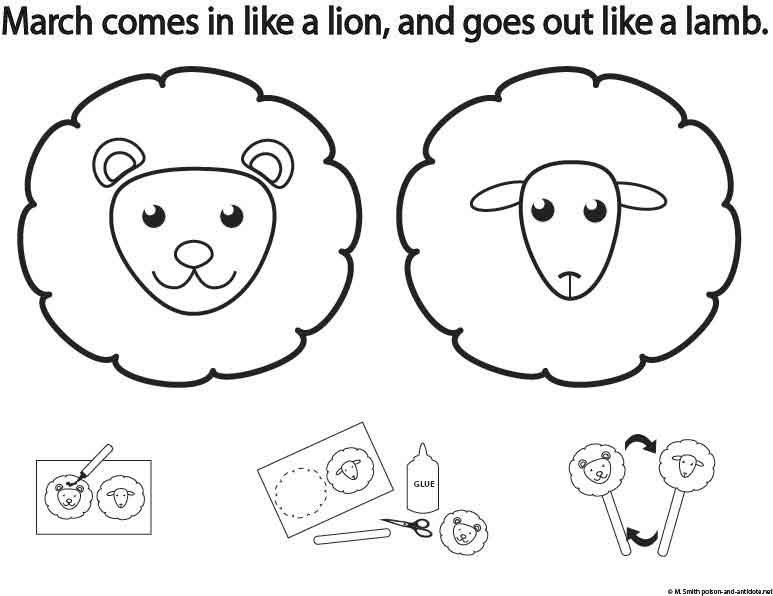 March Comes In Like And Goes Out Like >> March Activity Sheet It Comes In Like A Lion And Out Like A Lamb