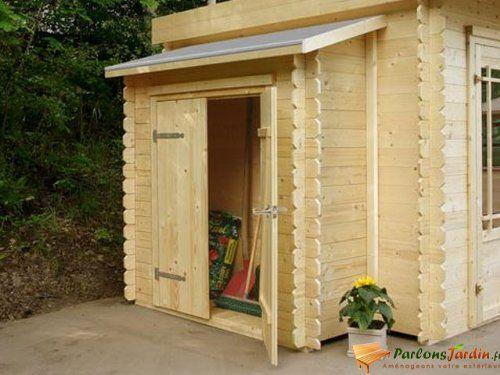 Remise adossée pour abri de jardin en bois L178cm dépôt extérieur - maison bois en kit toit plat