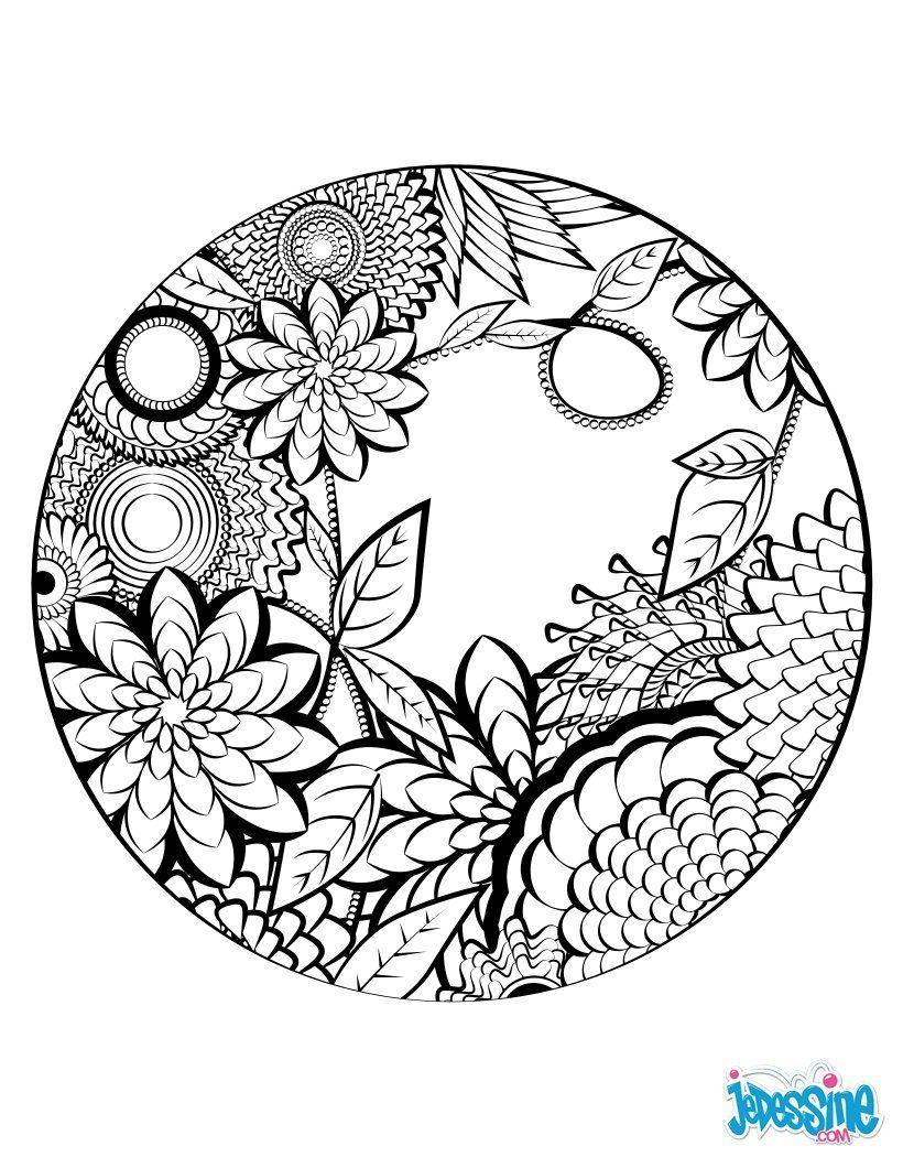 Magnifique coloriage vintage mandala naturel avec un joli effet parfait pour d corer un diy - Mandala adulte ...