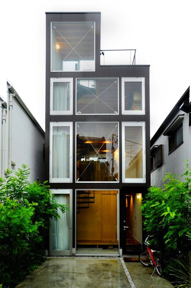 Tall And Skinny Home Exterior Chic Architecture Home Ideas