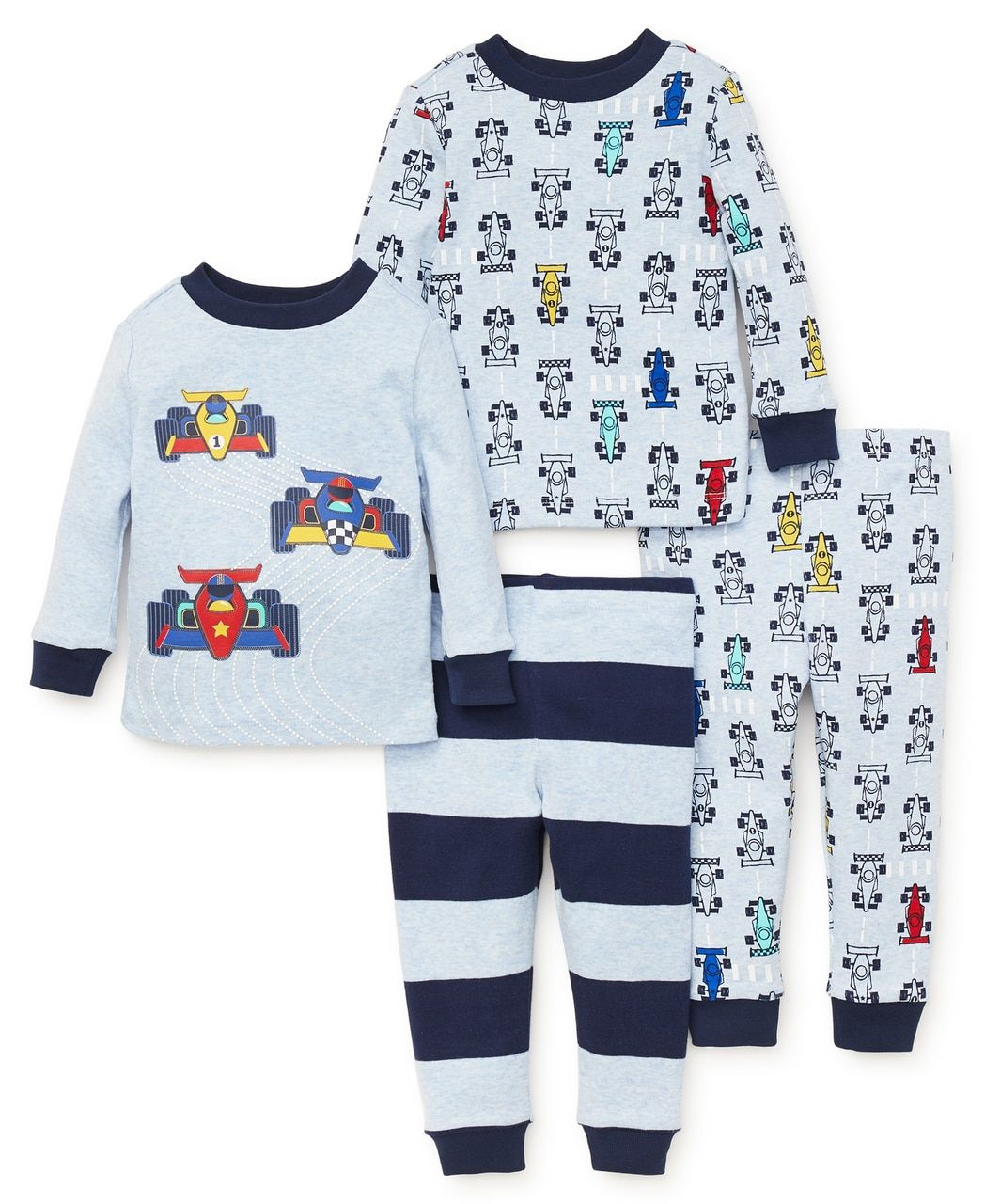 8a9ff9c229eddb Little Me | Boys Sleepwear | Race Car 4-Piece Pajama Set | Ellis 3T ...