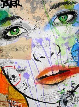 "Saatchi Online Artist Loui Jover; Mixed Media, ""ballad"" #art"