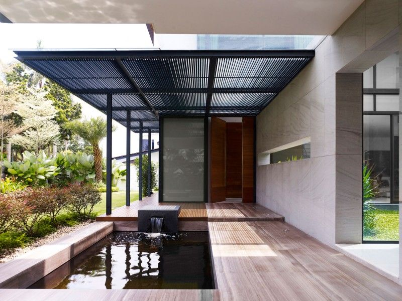 Modern Canopy berrima house in modern tropical look dwelling : small pond modern