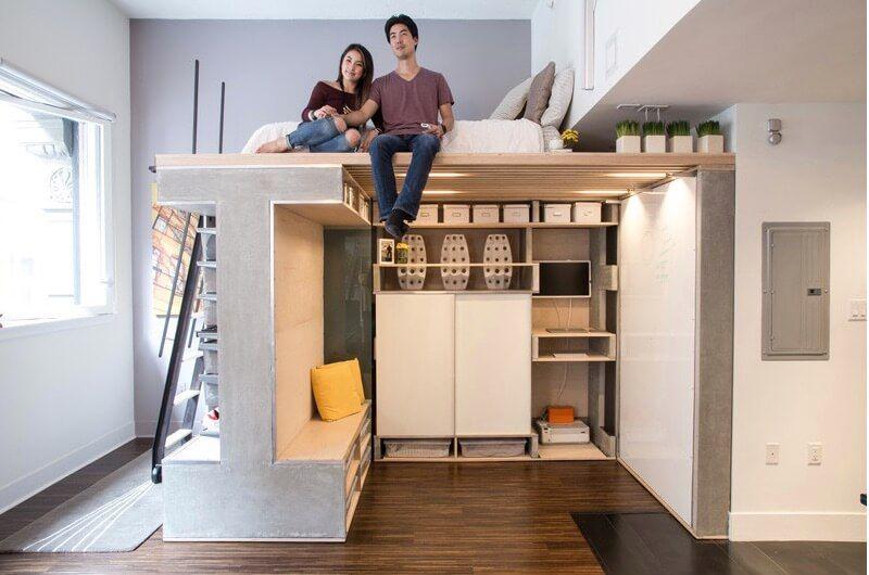 small apartments lofts interior design ideas freshome small flat decoration Custom Loft Maximizes Space in Tiny San Francisco Condo - http:--freshome.