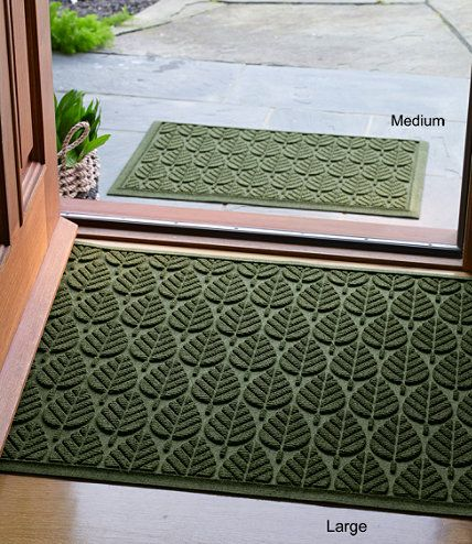 Indoor Outdoor Waterhog Doormat Geo Leaf Free Shipping At