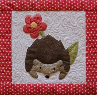 Hedgehog Haven ANIMALS QUILT Pinterest Hedgehogs, Quilted pillow and Quilt design