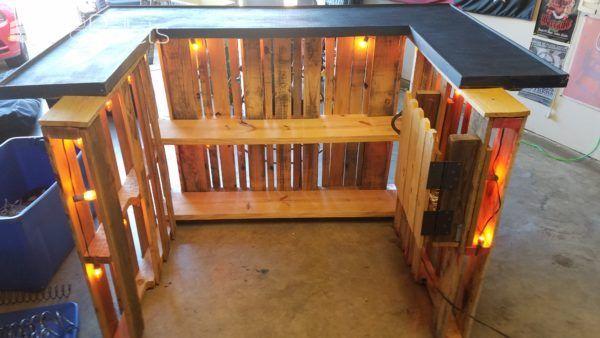 Have 3 Pallets Make One Pallet Bar Hout Bar Pallet