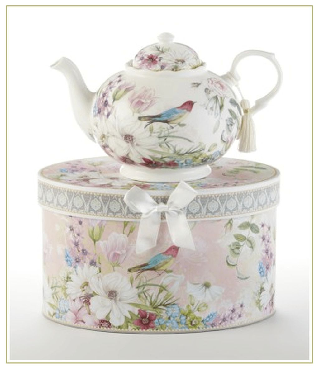 Delton Product Porcelain Tea for One in Gift Box Wildflower 5.8 Inches