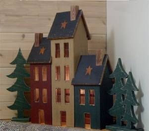 Lighted Primitive Houses And Lighted Saltbox Houses By Raystown