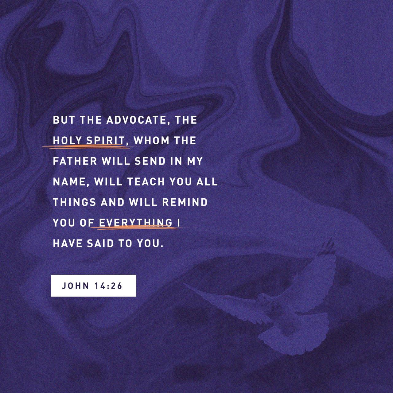 John 14 26 Ampc Holy Spirit Bible Apps Verses