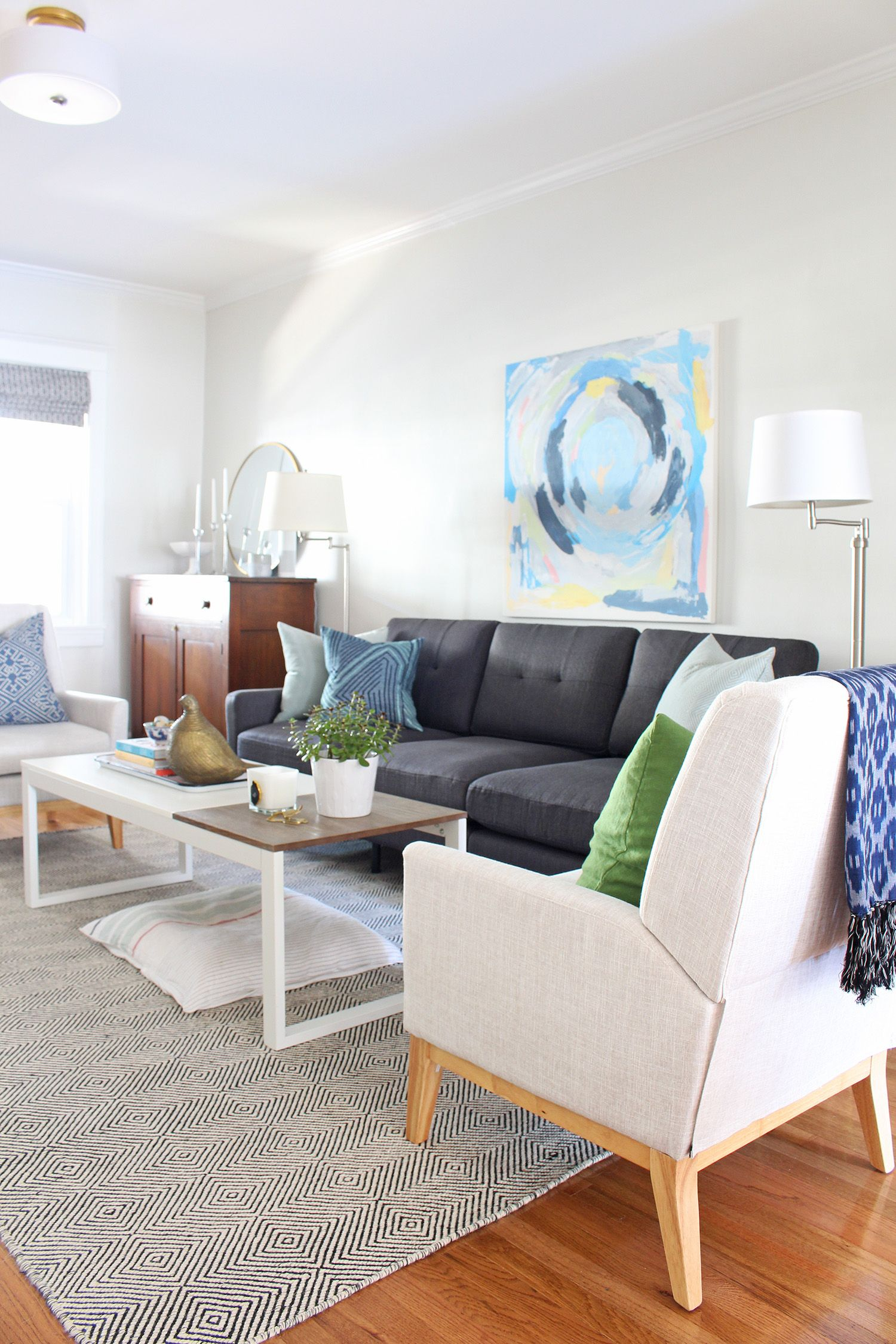 Five Small Space Design Ideas That Balance Style Function Small Space Design New Living Room Living Room Sofa