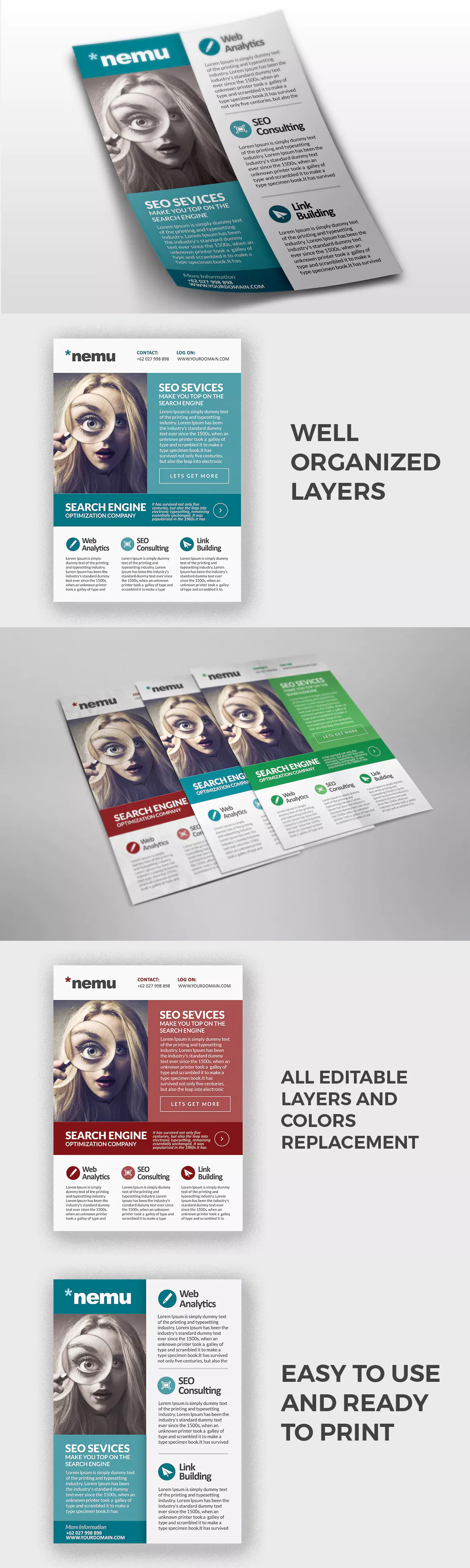 Seo Promo Flyer Template Psd Flyer Templates Pinterest Flyer