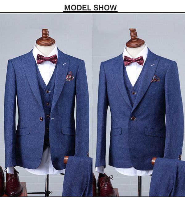 Source 2016 Latest Design Blue Suit Pant Coat Pant Coat Design Men