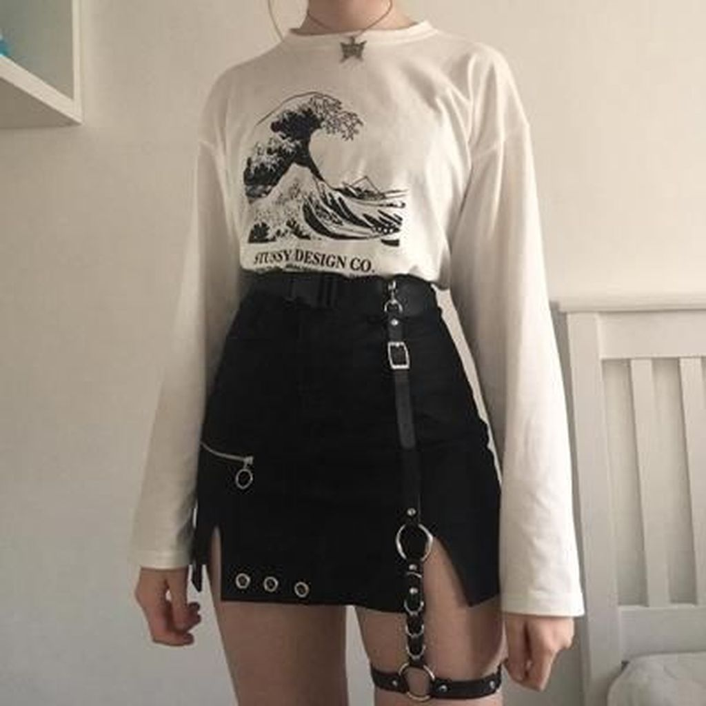 20 Unusual Grunge Outfits Ideas For Women To Try This Season Egirl Fashion Edgy Outfits Fashion Inspo Outfits