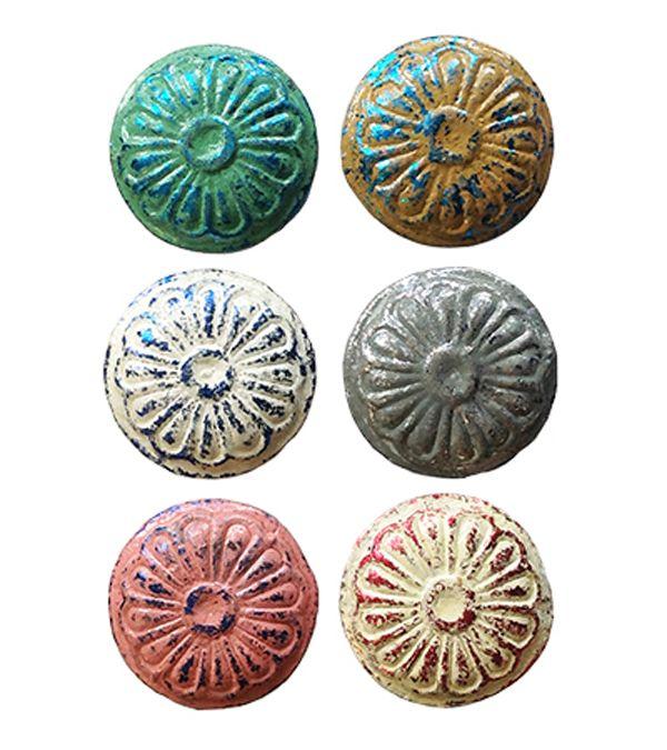 Cast Iron Vintage Door Knobs 6 Colours.