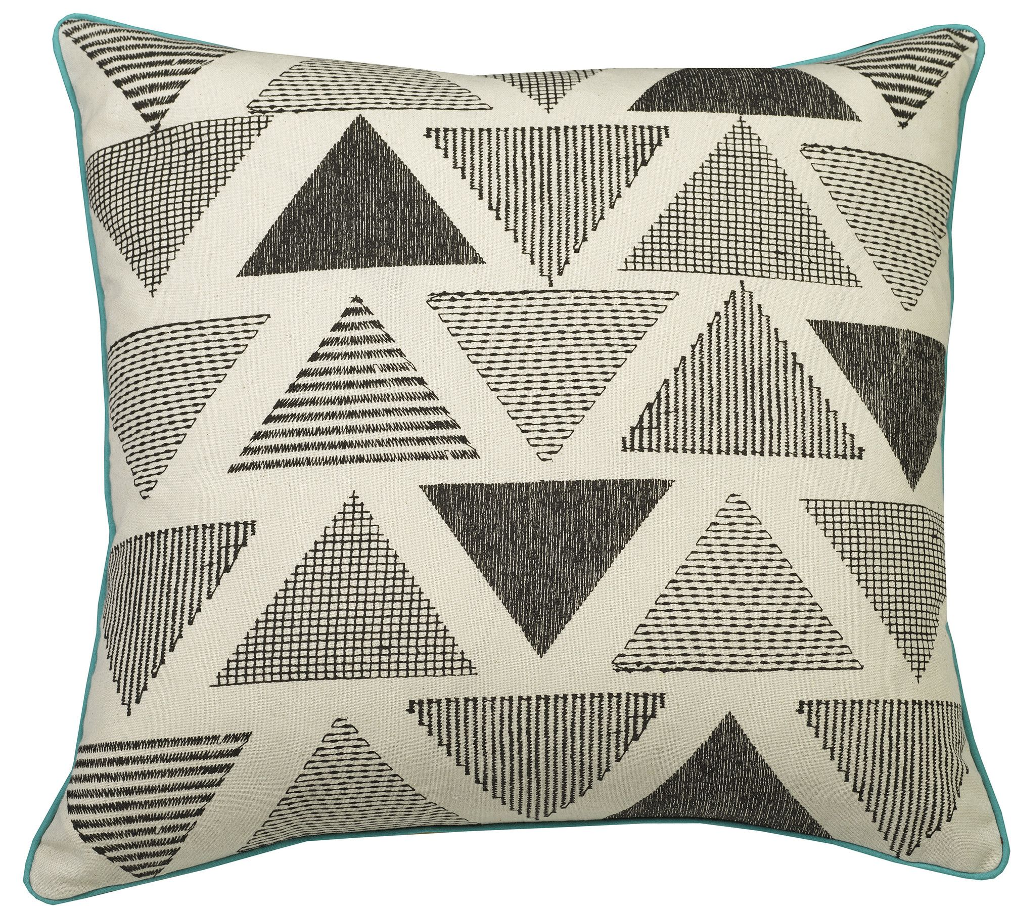 Urban Loft Shaded Triangles Throw Pillow