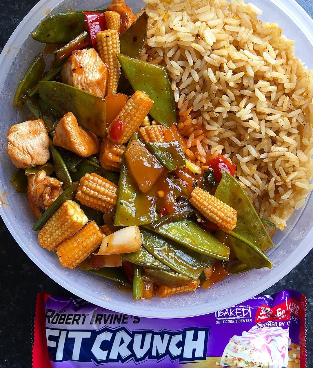 Massive Sticky Sweet And Sour Chicken With Egg Fried Rice A Fit Crunch Birthday Cake Bar Recipe For My