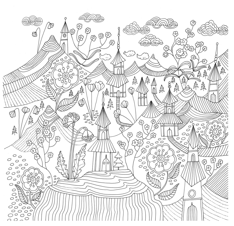 Japanese Garden Coloring Pages Printable