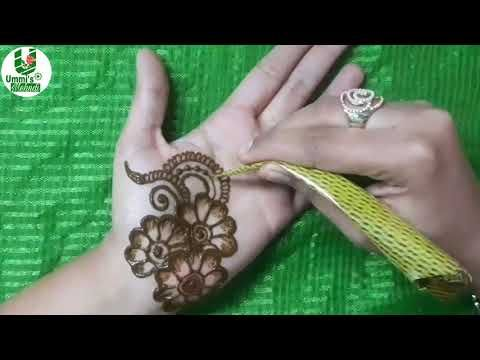 Easy Mehndi Ideas : Learn stylish arabic henna mehndi in minutes how to apply