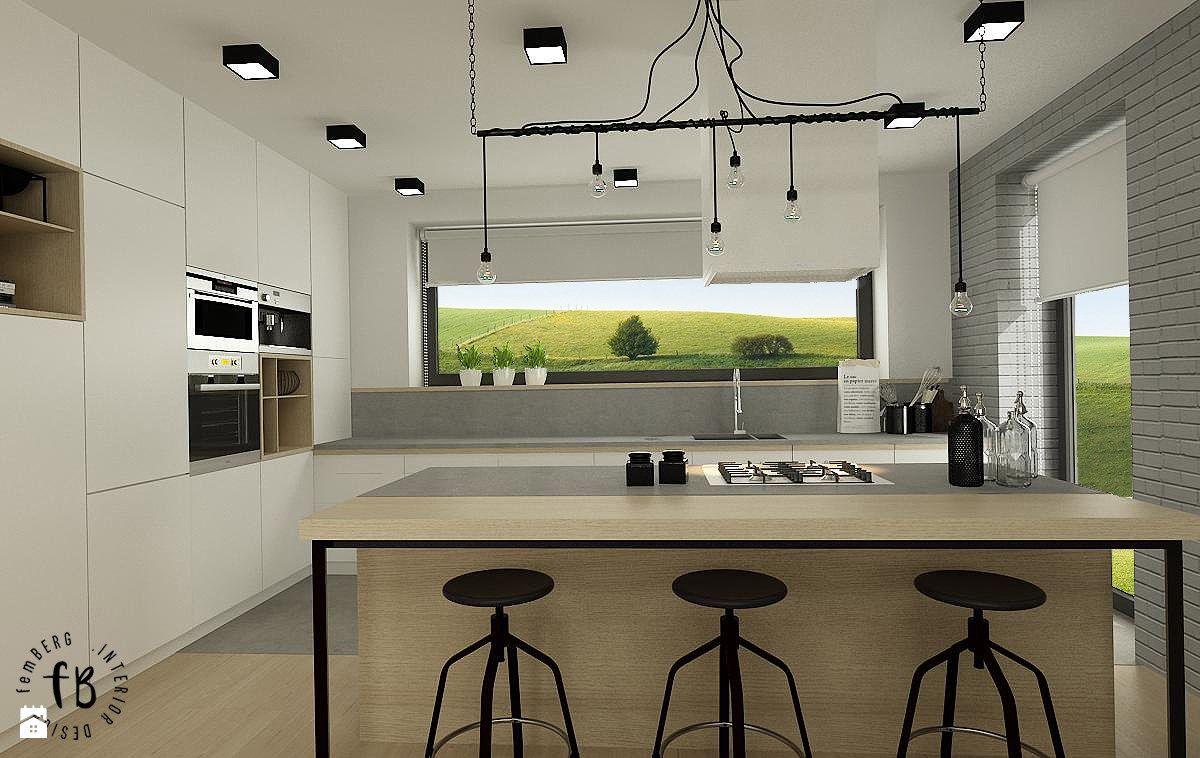 Biała Kuchnia Zdjęcie Od Femberg Architektura Wnętrz