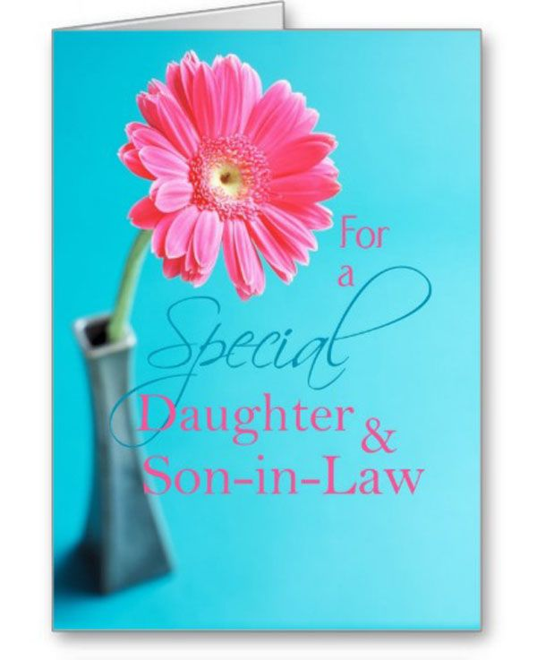 Daughter And Son Valentine Pink Daisy Greeting Card