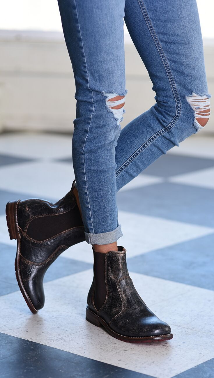Nandi Boots, Cowboy boot outfits, Black chelsea boots outfit