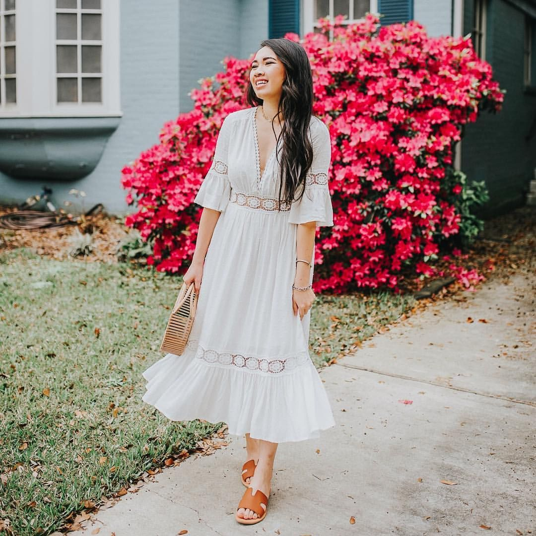 Found This Darling White Maxi Dress For Under 100 From Vici Use Code Annie20 For 20 Off White Maxi Dresses Dresses White Midi [ 1080 x 1080 Pixel ]