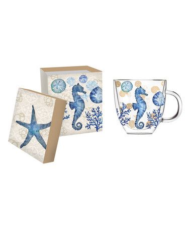 Loving this By the Sea Glass Coffee Cup on #zulily! #zulilyfinds