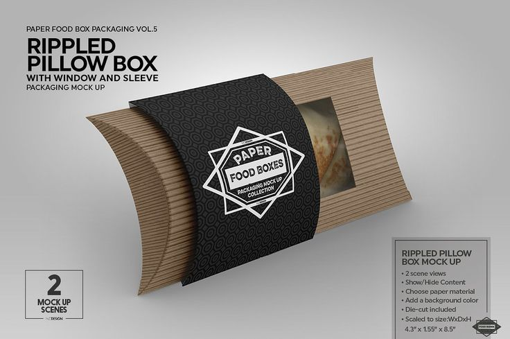 Download Vol 5 Food Box Packaging Mockups Pillow Box Food Box Packaging Free Packaging Mockup