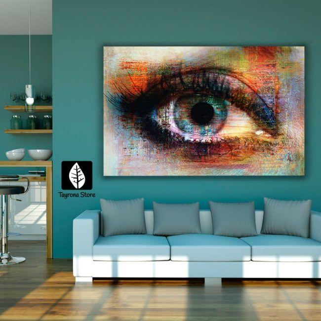 Cuadro Decorativo Tayrona Store Para Sala o Alcoba Ojo Pintura - pinturas para salas