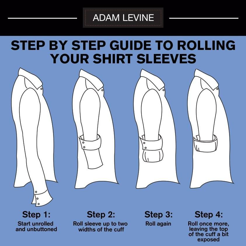 How to roll up a long sleeve dress shirt