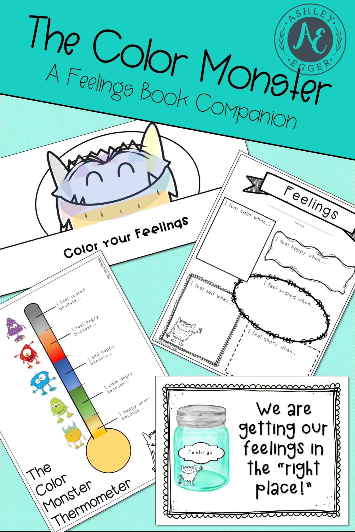Feelings Activities For The Color Monster Social Skill